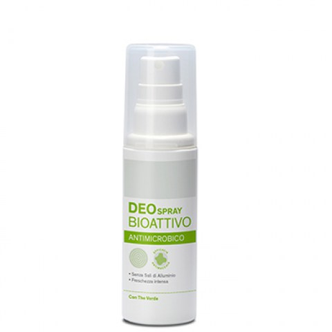 Deo spray bioattivo ANTIMICROBICO con The Verde
